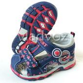 Детские босоножки сандалии для мальчика солнце синий с крас. 21р.-26р. 3824