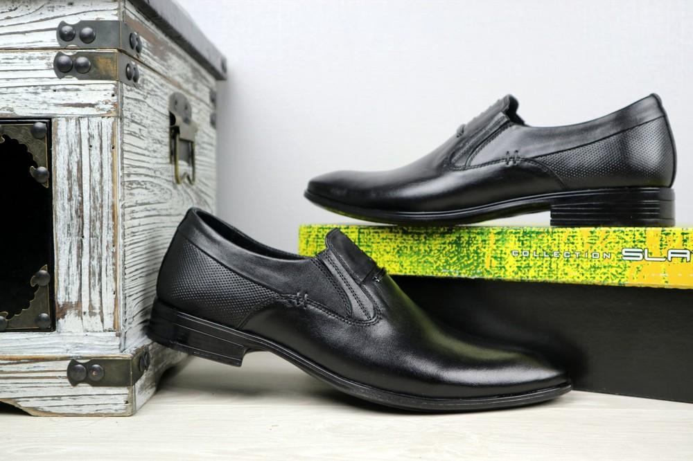 Мужские классические кожаные туфли, р 40-45, код gavk-10894 фото №4