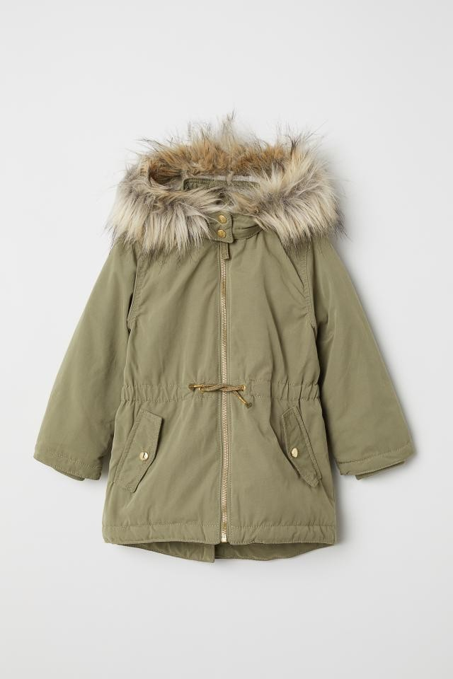 Куртка парка h&m деми утеплённая фото №1