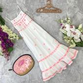 Шикарное платье для юной леди из белоснежной натуральной ткнаи  DR181736