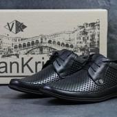 Туфли летние кожа Van Kristi Black