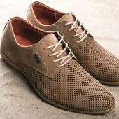 Перфорированые кожаные туфли Yuves, р. 39-45, код gavk-102360