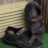 Легкие удобные мужские сандалии черного цвета