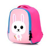 Детский рюкзак для девочки из неопрена. Зайка. Розовый