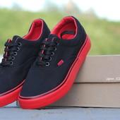 Мокасины мужские Vigo black/red