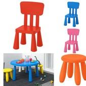 Детский стул, д/дома/улицы, розовый Икеа Маммут, 803.823.21 Ikea Mammut В наличии!