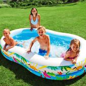 Надувной бассейн Intex 56490. 262x160x46см. Семейный. Райская лагуна