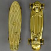 Скейт 940 доска 55см, колёса PU d 6см, свет, на скейте имеются небольшие сколы краски
