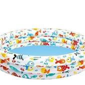 Детский надувной бассейн «Тропические рыбки NP Intex, 132х28 см