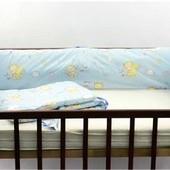 Защита в кроватку Мишка со звездами и луной, 4 эл