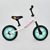 Велобег corso С 7130 белый, стальная рама, колесо 12 eva пена