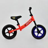 Велобег corso С 7890 красный, стальная рама, колесо 12 eva пена