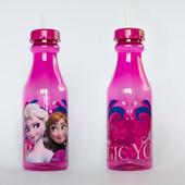 Бутылка стакан с соломкой Холодное сердце Анна и Эльза