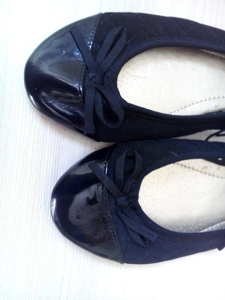 23см балетки черные с лакированным носком фото №3