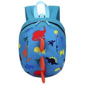 Детский рюкзак Динозавр, голубой
