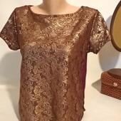 новая женская блуза uk 12 кружево
