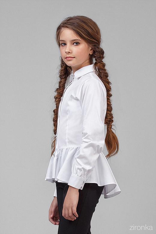 Красивая школьная блузка 122 фото №1