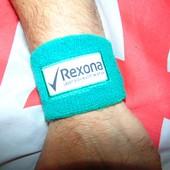 Стильний фирменний напульсник повязка Rexona (Рексона)