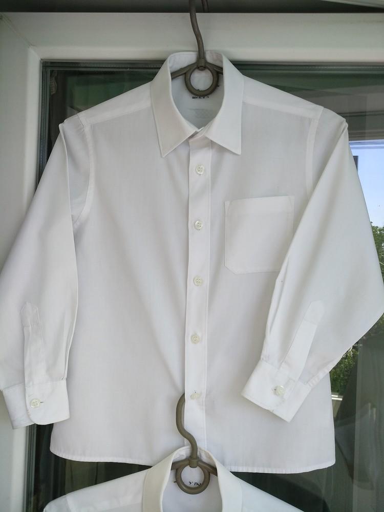 f72caae10c1 Рубашка белая m s р.122 мальчику 6-7 лет