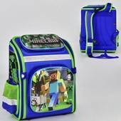 Рюкзак школьный Minecraft N 00184 2 кармана, спинка ортопедическая