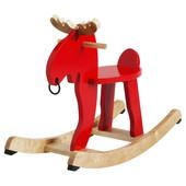 Лось-качалка, красный, каучуковое дерево, 500.607.13 Ekorre, Экоррэ Икеа Ikea В наличии