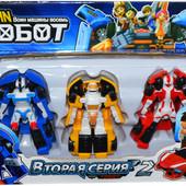 Набор роботов- трансформеров Тобот , 959, 2 серия, 3 шт. в наборе