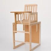 Деревянный стульчик для кормления (натуральный)