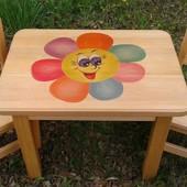 Дитячі комплекти столик стільчик табуретка