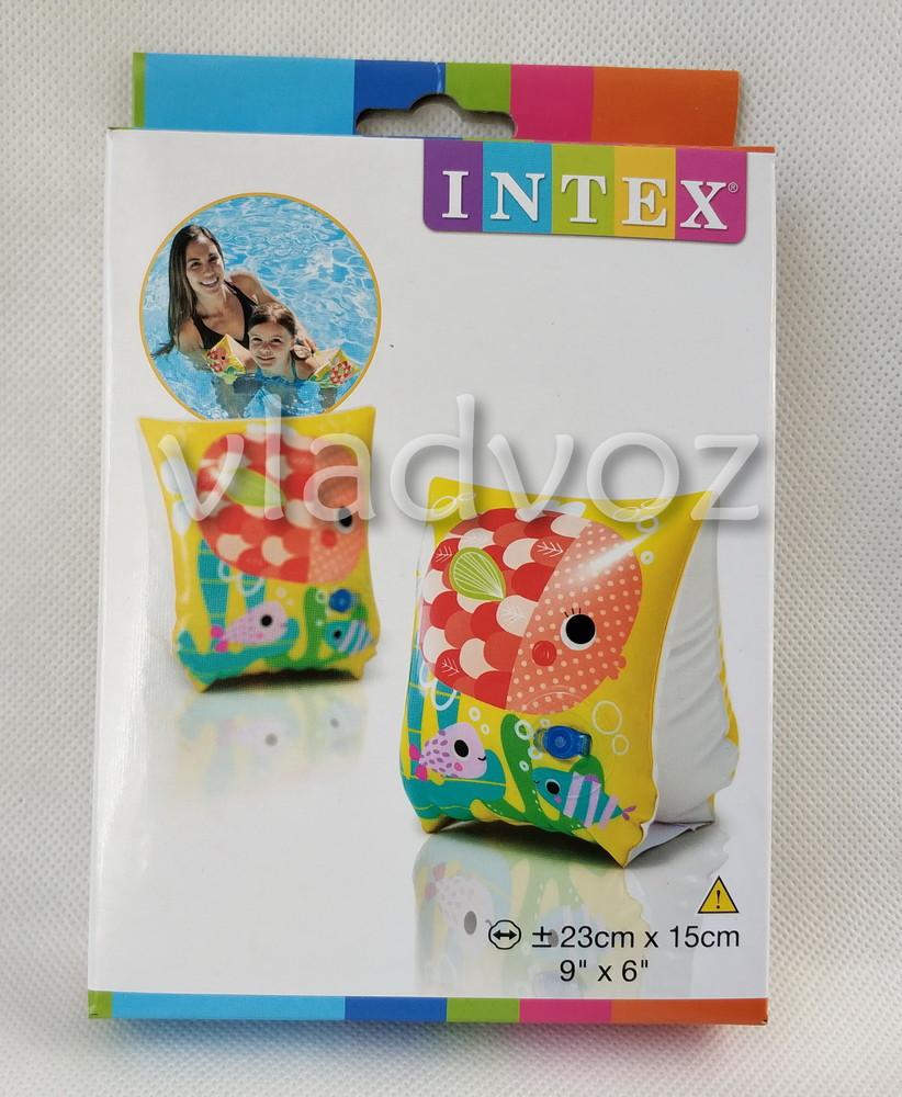 Детские надувные нарукавники для плавания intex 58652 от 2-6 лет фото №1