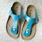 Шлепки летние шлепанцы вьетнамки ортопедическая обувь Германия 38 маломерят