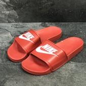 Мужские шлепанцы Nike red