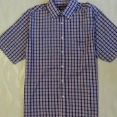 Рубашка в клетку дорого бренда Pierre Cardin , р.50-52