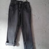 Новые фирменные серые джинсы-бриджи