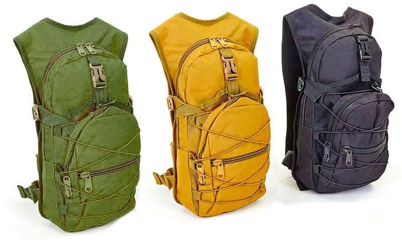 Рюкзак тактический с местом под питьевую систему TY-06: объем 10 литров, 46х24х8см (3 цвета) фото №1