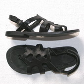 Кож. черные сандалии H&M для девочки р.29