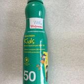 детский солнцезащитный спрей Walgreens baby spf 50 США