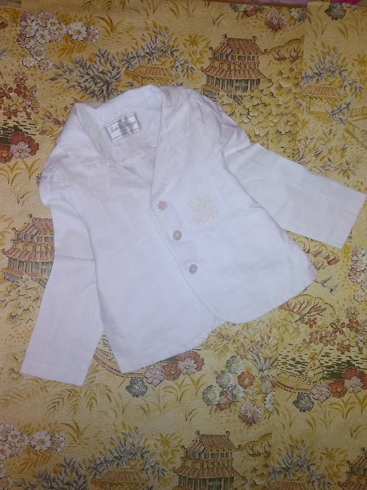 Нарядный пиджак на 3-4 года фото №1