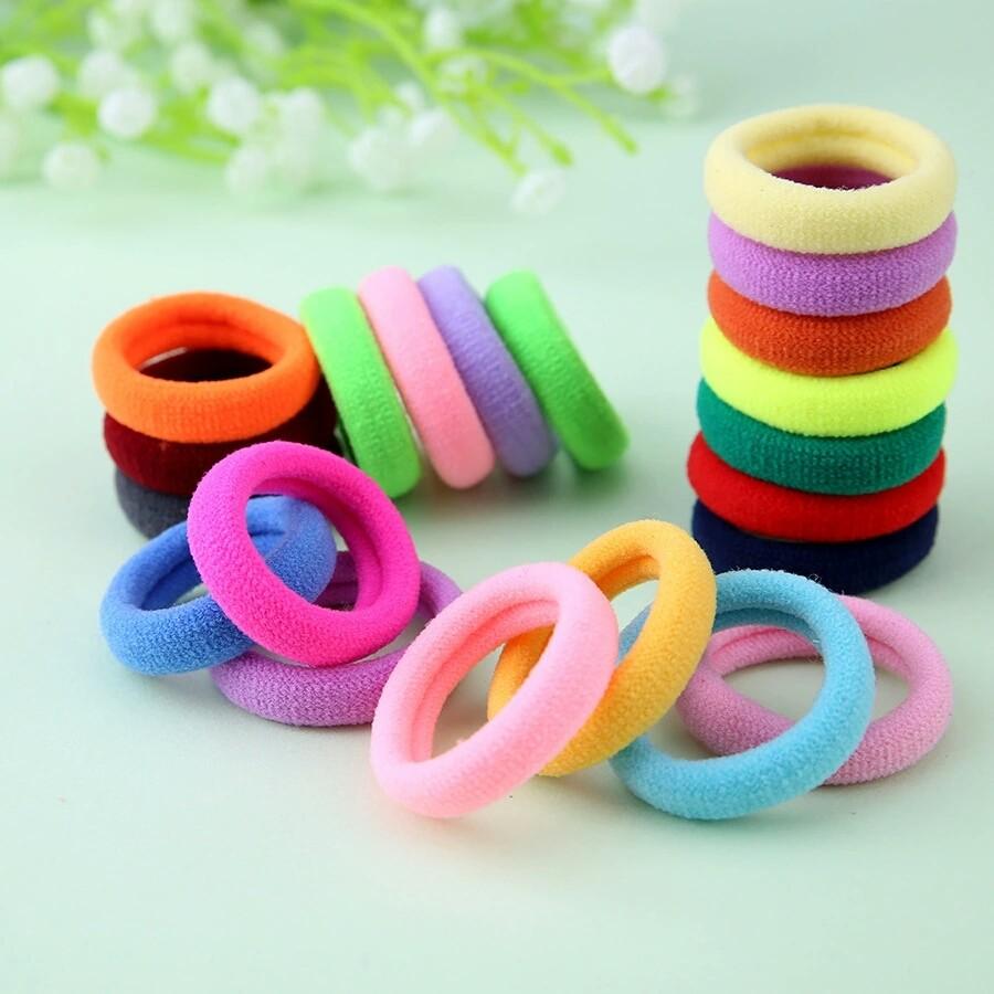 Яркие наборы детских резинок для волос 4 шт, cute dream, 10 цветов фото №1