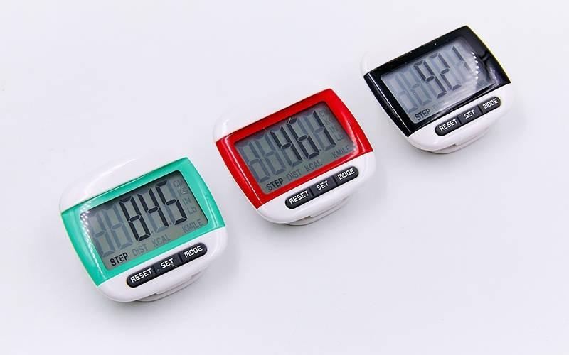Шагомер электронный с клипсой 2979: количество шагов + расстояние + калории фото №1
