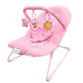 Шезлонг-качалка Bambi розовый