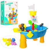 Столик-Песочница для игр с песком и водой 2 в 1 пиратский корабль 057