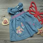 Платье сарафан с зайкой Next (3-6 мес)