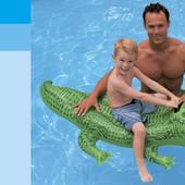Надувн. Крокодил  58546   винил, с ручками (3+ лет), рем комплект, в кор. 168*86см
