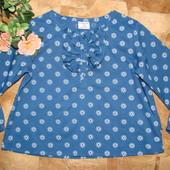 лёгенькая блуза Polarn O.Pyret Швеция 2-3 года как новая!