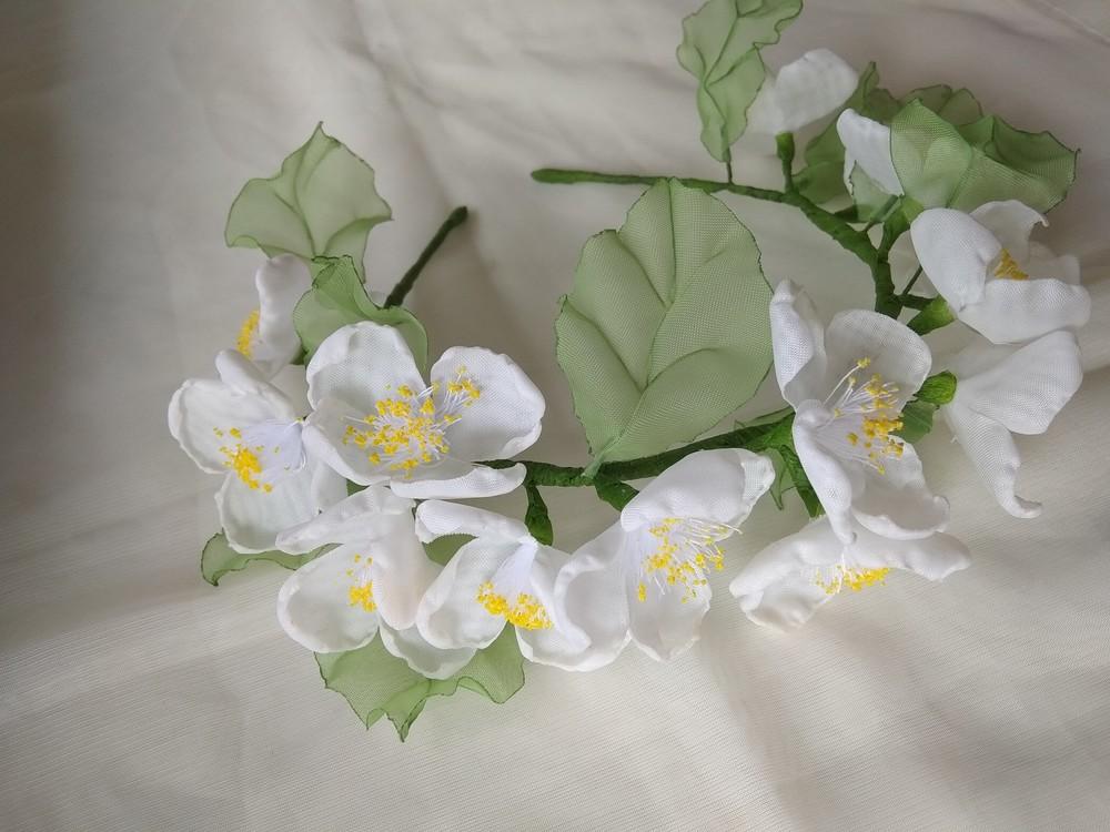 Нежный и красивый обруч с цветами из шифона,  ободок,  веночек фото №5