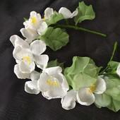 Нежный и красивый обруч с цветами из шифона,  ободок,  веночек