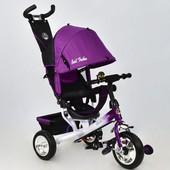 Велосипед 6588 - 0910 Best Trike фиолетовый, колесо пена, переднее d 25см. задние d 20см