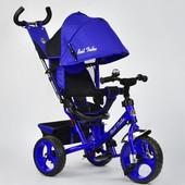 Велосипед 6570 3-х колёсный Best Trike электрик, переднее 12 дюймов d 28см, заднее 10 дюймов d 24см
