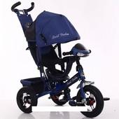 Велосипед трехколесный Best Trikeс фарой и ключом зажигания 6588 В-3580 синий