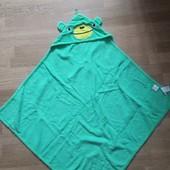 H&M махровое полотенце- уголок с капюшоном 75*75 см